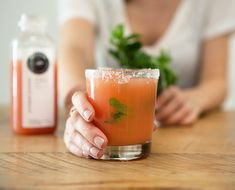 Try this easy & delicious recipe for a citrusy margarita using fresh-pressed juice from Pressed Juicery!