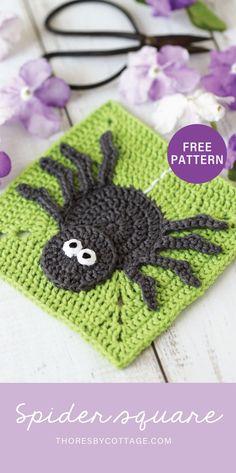 Granny Square Crochet Pattern, Crochet Squares, Crochet Motif, Free Crochet, Granny Squares, Crochet Granny, Crochet Appliques, Kids Crochet, Unique Crochet