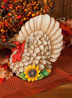 Harvest Turkey by MaryJo Tuttle. Exclusive pattern and surface available at www.artistsclub.com