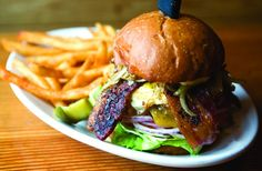 The Section 107 No Pity Burger at Cannon Beachs Lumberyard Rotisserie & Grill