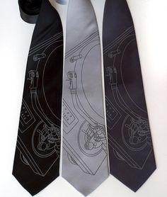 turntable ties.  damask ties.  circuit board ties.  Cyberoptix.com