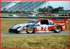 1989 IMSA/GTO Nissan 300z Z32dett Campaigned by Clayton Cunningham racing with Steve Millen #75 and John Morten #76 on driving duties... the 1200kg tube chassis racer was powered by a 24 valve, 3 liter V6 VG type engine, boosted by two Garrett turbochargers. The Z32 styled racer was reported to develop between 650bhp and 750bhp at Daytona 24h