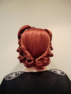 Vintage Hair and Make Up #red #hair