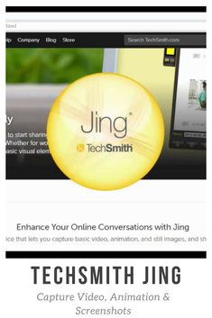 Jing is a great tool for adding basic visual elements to all of your online conversations. Great Apps, Virtual Assistant, Productivity, Let It Be, Learning, Studying, Teaching, Onderwijs