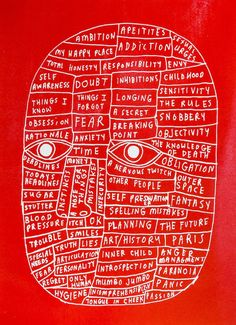 David Shillinglaw - Head (Red) – Yuck Print House