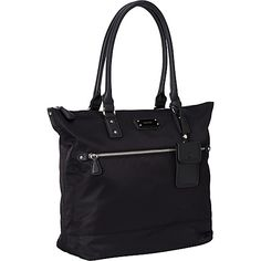#Handbags, #ManmadeHandbags - Nine West Handbags 9 on the Go Large Tote Black - Nine West Handbags Manmade Handbags