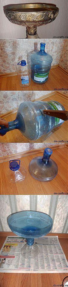 El florero de la botella de plástico por las manos | Samodelkino