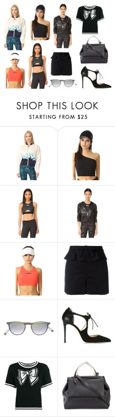 """""""Decent Look"""" by donna-wang1 ❤ liked on Polyvore featuring adidas, RED Valentino, Garrett Leight, Jimmy Choo, Boutique Moschino and Brunello Cucinelli"""