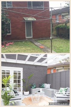 Backyard remodel before and after exterior makeover 21 Ideas Home Exterior Makeover, Exterior Remodel, Home Remodeling Diy, Home Renovation, Exterior Design, Interior And Exterior, Three Birds Renovations, House Makeovers, Facade House