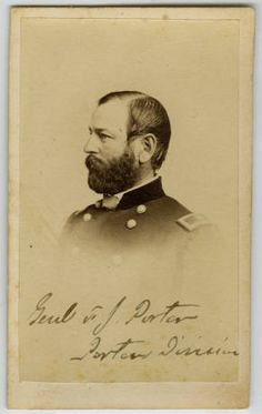 General Fitz John Porter, circa 1861-1865. Porter was a career United States Army officer and a Union General during the American Civil War. Civil War Narratives Digital Library.