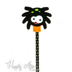 Silly Spider Pencil Topper Embroidery Design