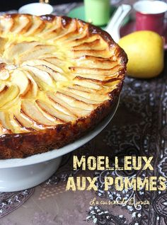 Fluffy aux pommes et sauce vanille ' Pudding, Cheesecakes, Bon Appetit, Apple Pie, Creme, Biscuits, Muffins, Deserts, Good Food
