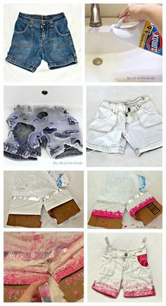 How to refashion denim shorts an easy step by step tutorial.for women or girls!   http://mylifeonthedivide.blogspot.com/