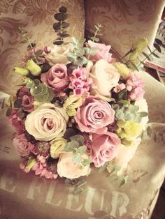 Dusky pink wedding flowers                                                                                                                                                                                 More