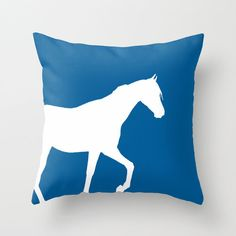 Horse Throw Pillow Horse Decor Pillow Cover by HLBhomedesigns