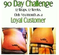 Are you ready for the challenge? www.wrapsofhope.myitworks.com 270.304.8962 Sabrina
