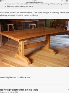 Kitchen Tables, Dining Table, Modern Farmhouse Table, Woodworking Tips, Wood Furniture, Solid Wood, Home Decor, Furniture, Timber Furniture