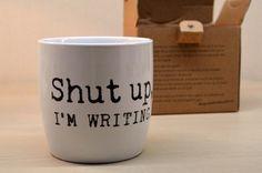 A Life Lounge: Wat ik kocht op de boekenbeurs Shut up, I'm writing mok van Blossom Books http://alifelounge.blogspot.be/2014/11/wat-ik-kocht-op-de-boekenbeurs.html