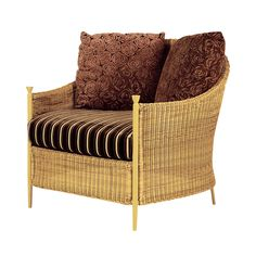 The La Mancha Club Chair in Natural Finish & Resin Weave from Walters Wicker Exterior Collection