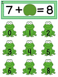 Missing Addend fun math center Leapin' Addends - help the frogs find their lilypad!