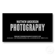 RETRO | PHOTOGRAPHY BUSINESS CARD #photography