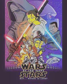 Where is Luke? The Simpsons se pasan a la fiebre Star Wars. #starwars #harrisonford #thesimpsons #lukeskywalker #cine #starwarseverywhere #starwarstheforceawakens