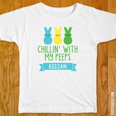"""Chickabug - Boys """"Chillin' With My Peeps"""" Iron-On (Shirt or Onesie), $9.00 (($))"""