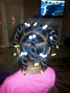 These black short girl hairstyles really are stylish Childrens Hairstyles, Cute Little Girl Hairstyles, Little Girl Braids, Baby Girl Hairstyles, Natural Hairstyles For Kids, Kids Braided Hairstyles, Princess Hairstyles, Girls Braids, Natural Hair Styles