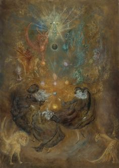 leonora carrington -The Tree of Life 1960 oil on canvas 36.25 by 25.75 in.