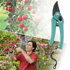 Gardening Pruning Shear Snip Tool Pruner Scissor Branch Cutter Lock Spring Syxd