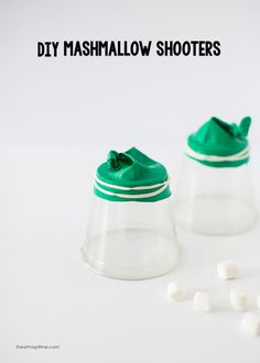 DIY marshmallow shooters -a fun kids craft for summer time!
