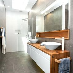 Awesome Bathroom Skylight Design For Bathroom Inspiration 27 Laundry In Bathroom, Ensuite, Timber Vanity, Shower Room, Bathroom Renovations, Skylight Design, Bathroom Storage Cabinet, Bathrooms Remodel, Bathroom Inspiration