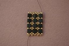 A Free and Fancy Tile Bead Bracelet Beading Pattern: Continue Adding Tila Beads