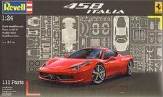 Building Revell Ferrari 458 Italia 1/24 – Build Photos
