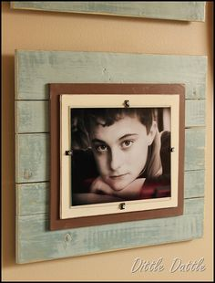 DIY-Photo-Frames using pallet wood and cheap glass frames you can get at IKEA...