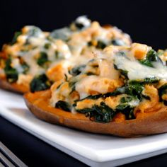 Spinach & Prosciutto Stuffed Twice-Baked Sweet Potatoes — healthy and filling.