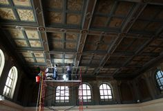 Oberlin College & Conservatory homepage featuring ICA's conservation of the Allen Memorial Art Museum's ornate painted ceiling