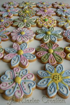 Flower sugar cookies