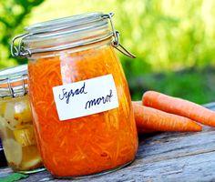 Att lyckas med mjölksyrat är lättare än man tror. Rivna morötter får gotta ihop sig med vitlök och dill. Vitlöken kokas hastigt före inläggning, annars blir den grön när den fermenteras.