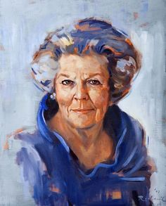 painting of our Queen Beatrix, i admire her strength and assemble a country