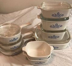 16 pc Corningware CornFlower Kitchen Dish Set Pyrex Bowls Lids Casserole  | eBay