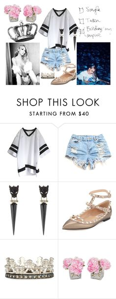 """""""Meeting CL"""" by bloodybutterfly ❤ liked on Polyvore featuring Alexis Bittar, Valentino, Armenta and The French Bee"""