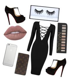 """""""Night Out"""" by nicolemaikai on Polyvore featuring Huda Beauty, Lime Crime, Posh Girl, Forever 21, Native Union, Louis Vuitton and Christian Louboutin"""