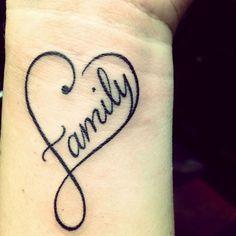 Family Heart Tattoo - Unique Heart Tattoo Ideas