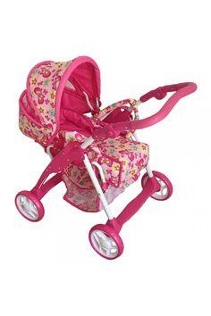 Detský kočík pre bábiky 2v1 Baby Mix ružový - motýli Baby Strollers, Children, Kids, Strollers, Sons, Child, Babies, Infant