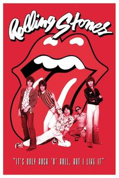 Rolling Stones - It's Only Rock 'n' Roll - Official Poster. Official Merchandise. Size: 61cm x 91.5cm. FREE SHIPPING