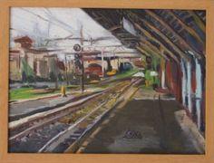 """Saatchi Art Artist Giovanni Scifo; Painting, """"Stazione Statuto, Firenze"""" #art"""