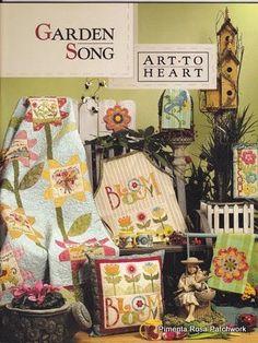 Art to Heart Garden Song - rosotali roso - Picasa Web Album Applique Templates, Applique Patterns, Applique Quilts, Quilt Patterns, Wool Applique, Sewing Magazines, Book Flowers, Patch Aplique, Panel Quilts