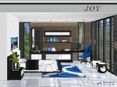 The Sims Resource: Joy Singles Bedroom by NynaeveDesign • Sims 4 Downloads