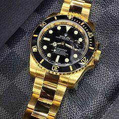 Yellow Gold Rolex Submariner